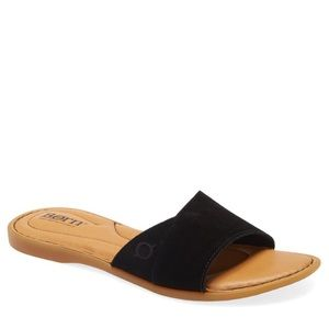 NEW Born Gudena Black Slide Sandal
